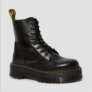 Dr. Martens Jadon Black Polished Smooth Boots
